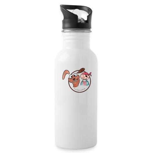 Kollin Kläff - Hund und Pirat für T-Shirt und co - Trinkflasche