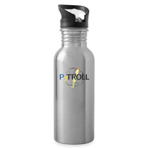 light logo spectral - Water bottle with straw