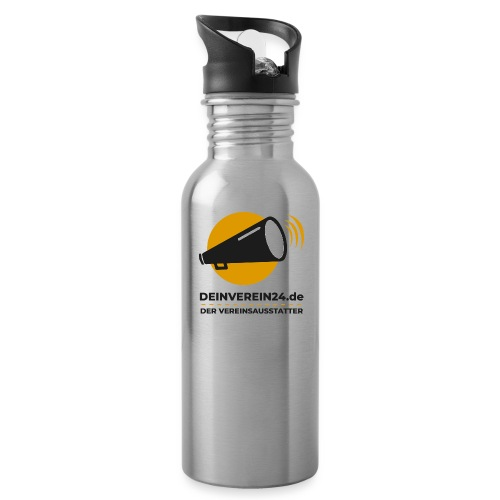 deinverein24 - Trinkflasche mit integriertem Trinkhalm