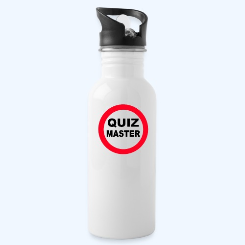 Quiz Master Stop Sign - Water bottle with straw