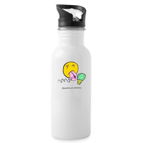 Cucurucho y mosca - Botella cantimplora con pajita integrada