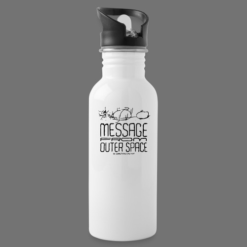 Message From Outer Space (black) - Water Bottle