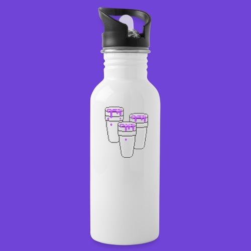 Purple - Borraccia con cannuccia integrata