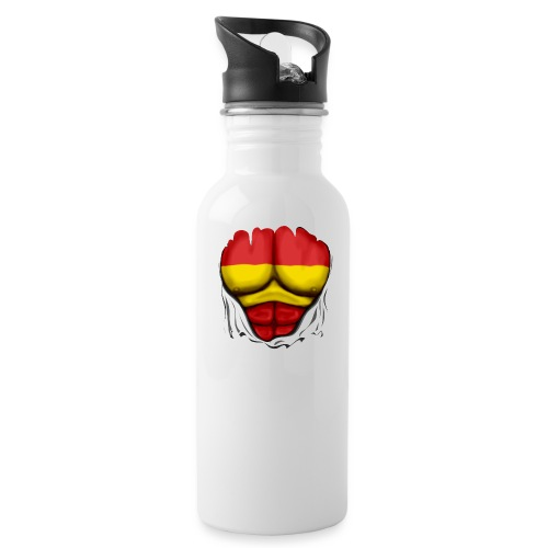 España Flag Ripped Muscles six pack chest t-shirt - Water Bottle