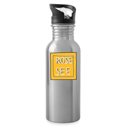Logo voor druk op textiel - Drinkfles met geïntegreerd rietje