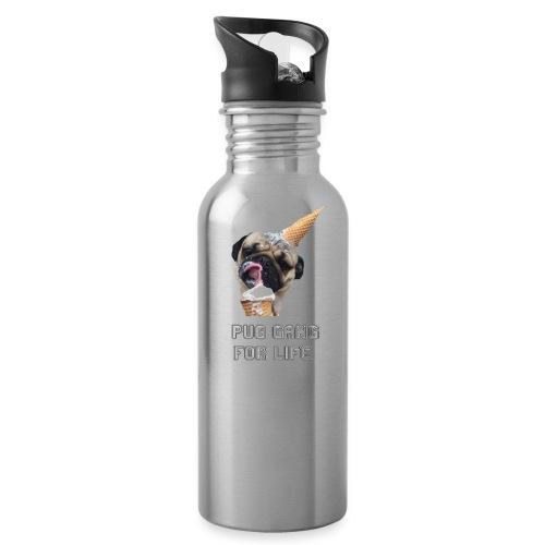 Pug Gang For Life. - Water Bottle
