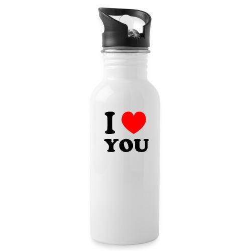 Sweater met i love you - Drinkfles