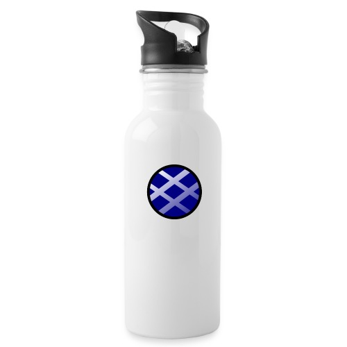 Logo církel - Water bottle with straw
