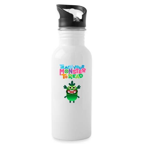 Teach Your Monster to Read - Water bottle with straw
