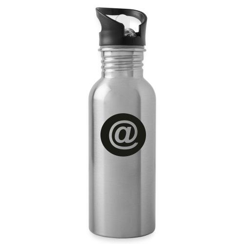 arroba_circulo - Botella cantimplora con pajita integrada