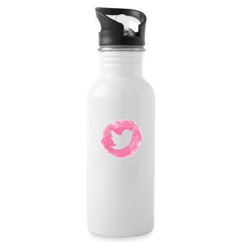 pink twitt - Water Bottle