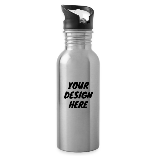 print file front 9 - Water bottle with straw