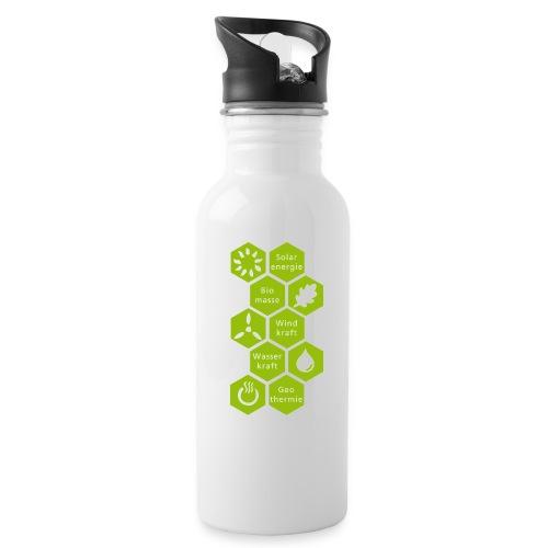 logosechseck600 - Trinkflasche