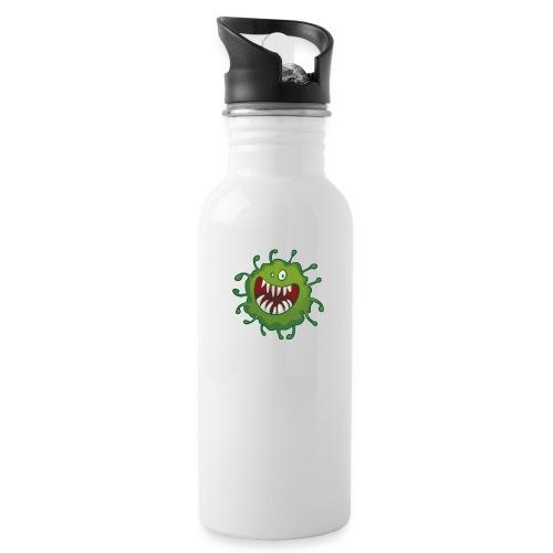 virus - Drikkeflaske med integrert sugerør