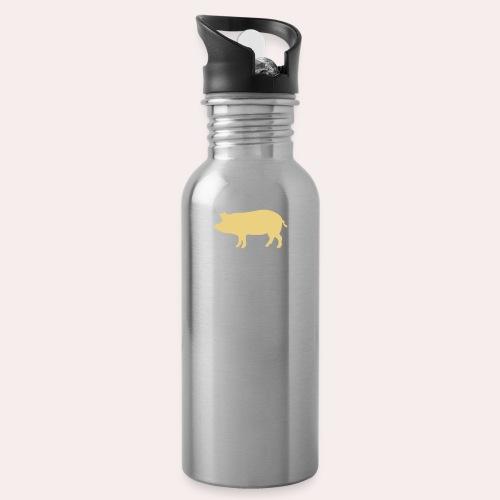 Nunca comas más de lo que puedas levantar - Botella cantimplora con pajita integrada