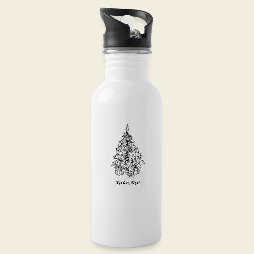 Frohes Fest! - Christbaum - Trinkflasche