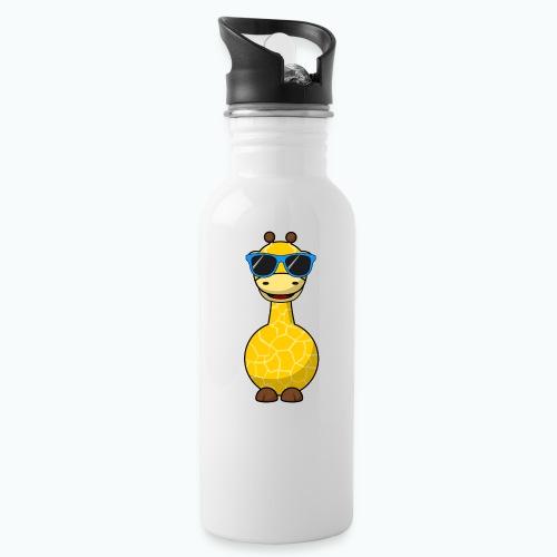 Gigi Giraffe with sunglasses - Appelsin - Vattenflaska