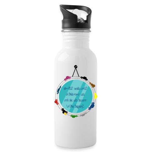 Spiegelschrift - Trinkflasche
