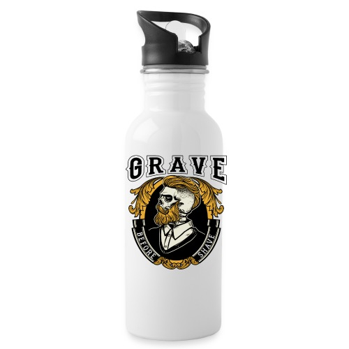 Grave Before Shave Bearded - Trinkflasche