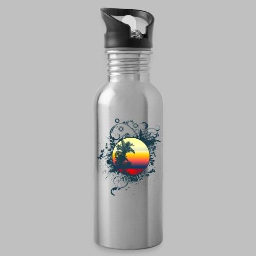 Sonnenuntergang Palmen ornament - Trinkflasche