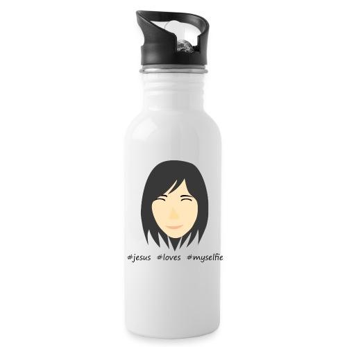 jesus loves myselfie - Trinkflasche