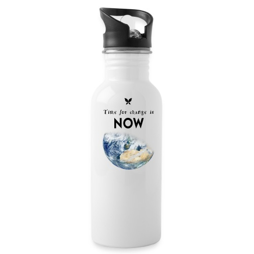Time for change is now. (Earth Edition) - Trinkflasche