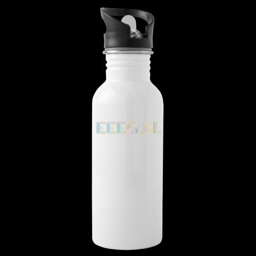 Egal EEEGAL Schlager Meme Musik Song - Trinkflasche mit integriertem Trinkhalm