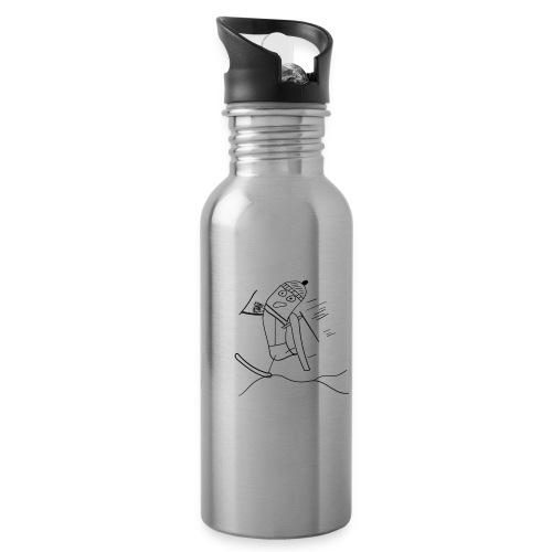 Skisocke - Trinkflasche mit integriertem Trinkhalm