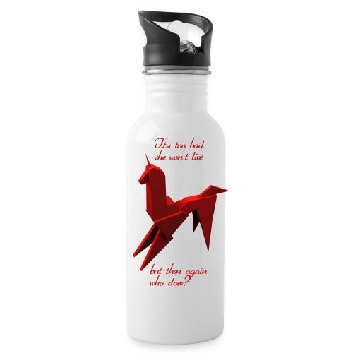 UnicornioBR2 - Botella cantimplora con pajita integrada