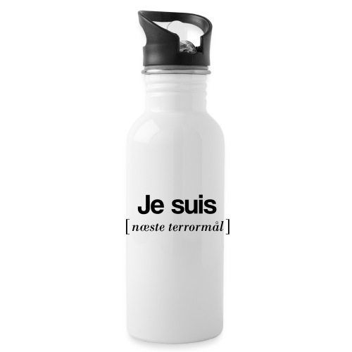 Je suis (sort skrift) - Drikkeflaske