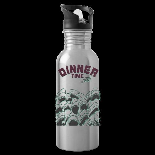 Dinner Time Funny Retro 90s Shark Shirt - Water Bottle