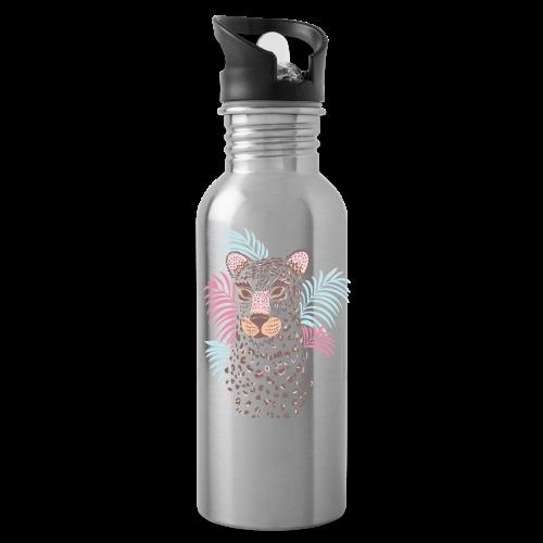 80s Pastel Color Cat - Water Bottle