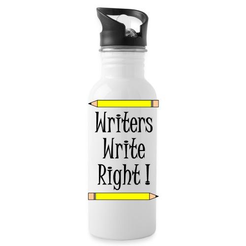 Writers Write Right - Water Bottle