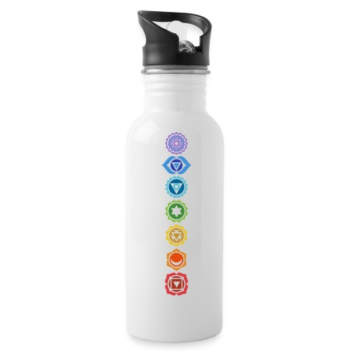 The 7 Chakras, Energy Centres Of The Body - Water Bottle