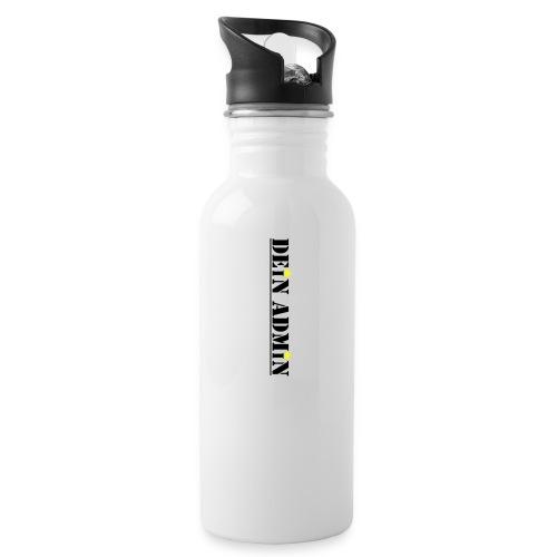 DEIN ADMIN - Motiv (schwarze Schrift) - Trinkflasche