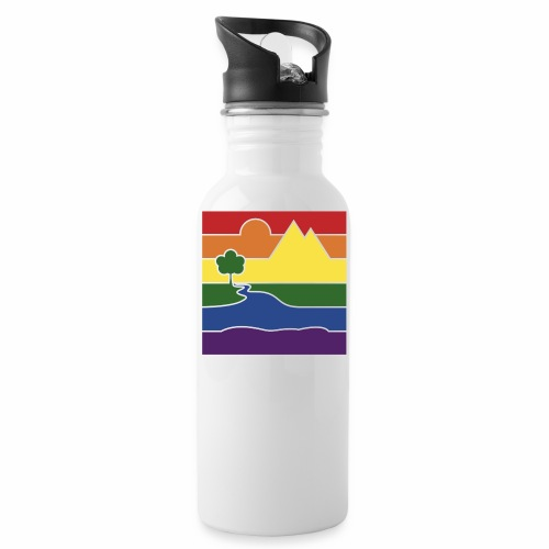 GOC Logo No Text - Water bottle with straw