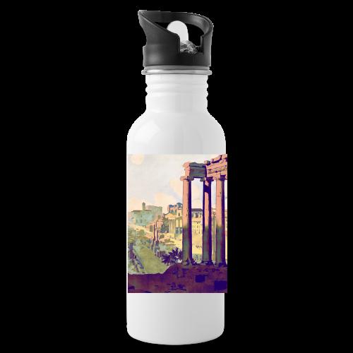Rome Vintage Travel Poster - Water Bottle