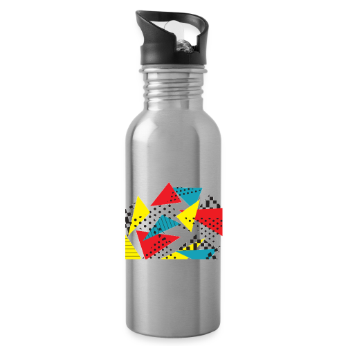 Abstract vintage collage - Water Bottle