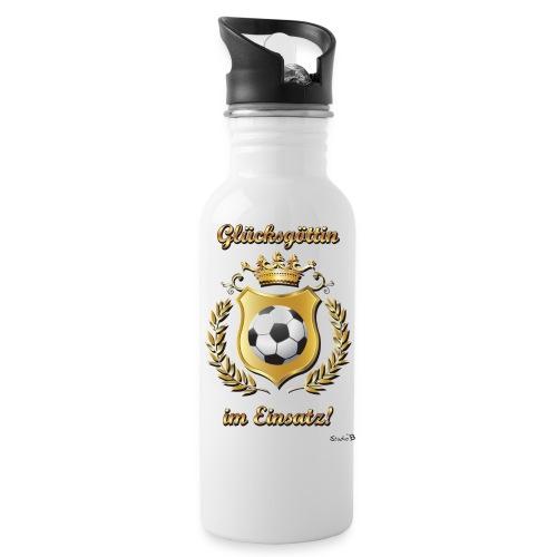 Fussball Glückgöttin - Trinkflasche