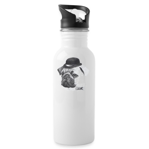 pug with bowler - Drikkeflaske