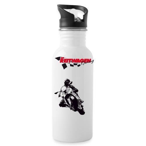 rw racing - Trinkflasche mit integriertem Trinkhalm