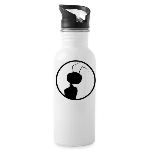 logomeise - Trinkflasche mit integriertem Trinkhalm