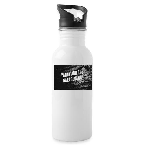 Black and White - Drikkeflaske med integrert sugerør