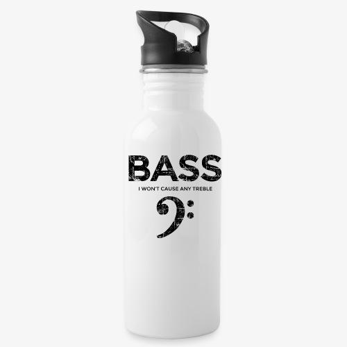 BASS I wont cause any treble (Vintage/Schwarz) - Trinkflasche