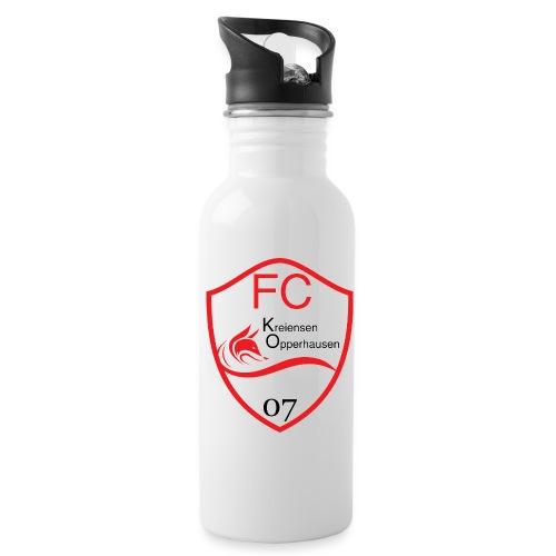 Wappen ohne - Trinkflasche mit integriertem Trinkhalm