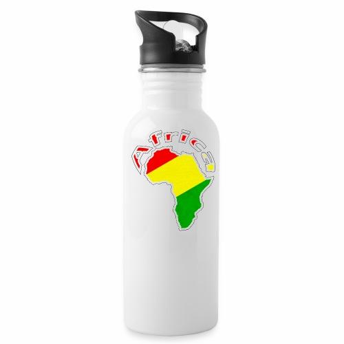 Afrika - rot gold grün - Trinkflasche