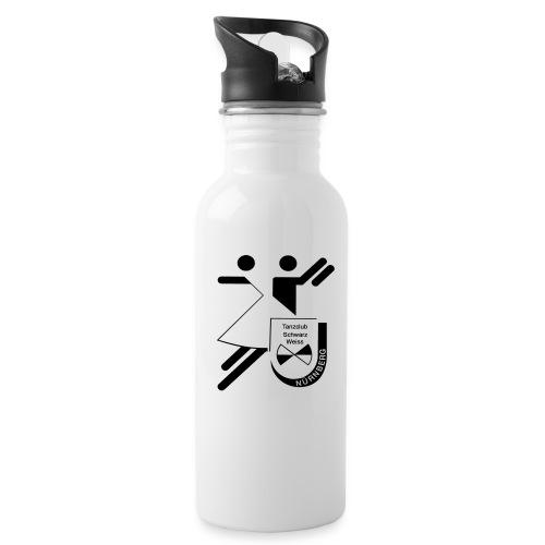 Schwarz Weiss gross - Trinkflasche