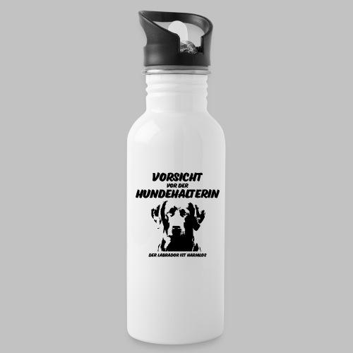 Vorsicht vor der Hundehalterin der Labrador Spruch - Trinkflasche