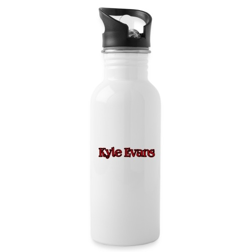 KYLE EVANS TEXT T-SHIRT - Water Bottle