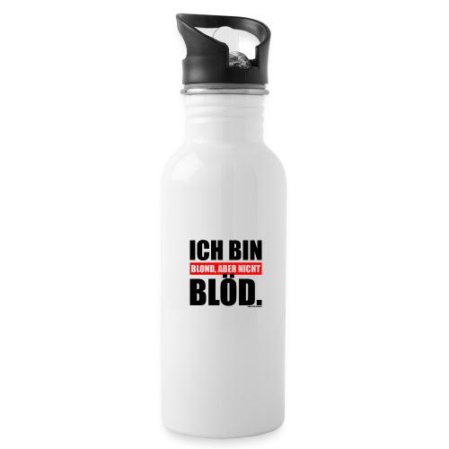 Spruch Ich bin blond, aber nicht blöd - b-o-w - Trinkflasche